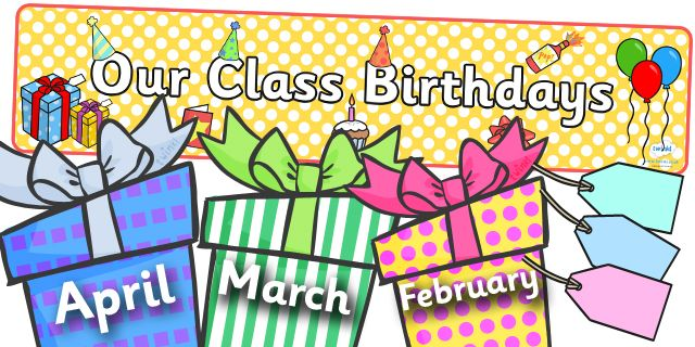Twinkl Resources >> Editable Birthday Display Set (Presents)  >> Thousands of printable primary teaching resources for EYFS, KS1, KS2 and beyond! birthday set, birthday display, birthday design, poster, display, banner, months of the year, cake, balloon, happy birthday,
