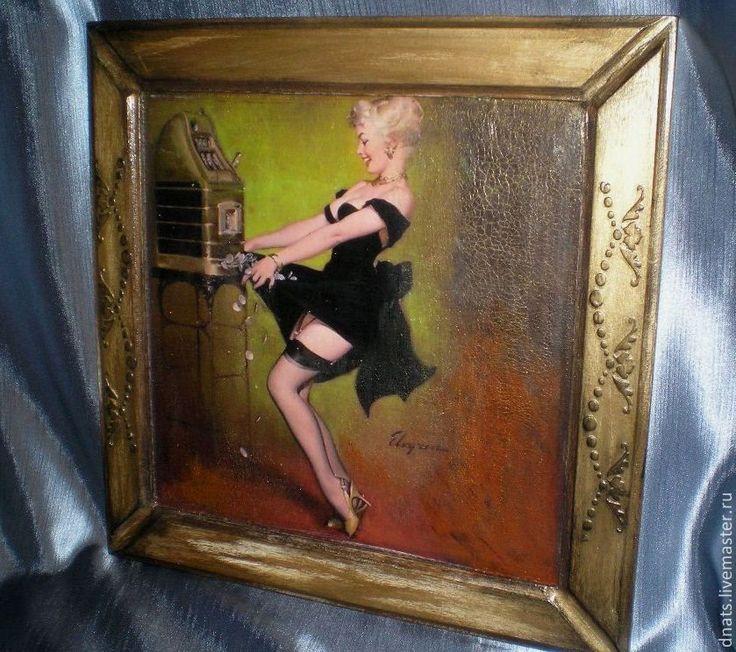 """Картина- панно """" Красотка"""" - картина,картина в подарок,картина для интерьера"""