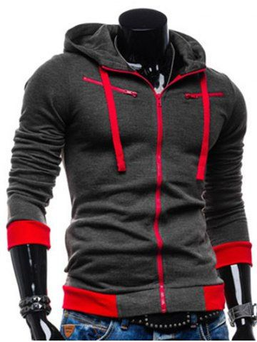 GET $50 NOW | Join RoseGal: Get YOUR $50 NOW!http://m.rosegal.com/mens-hoodies-sweatshirts/color-splicing-zippered-drawstring-hoodie-712512.html?seid=6880539rg712512