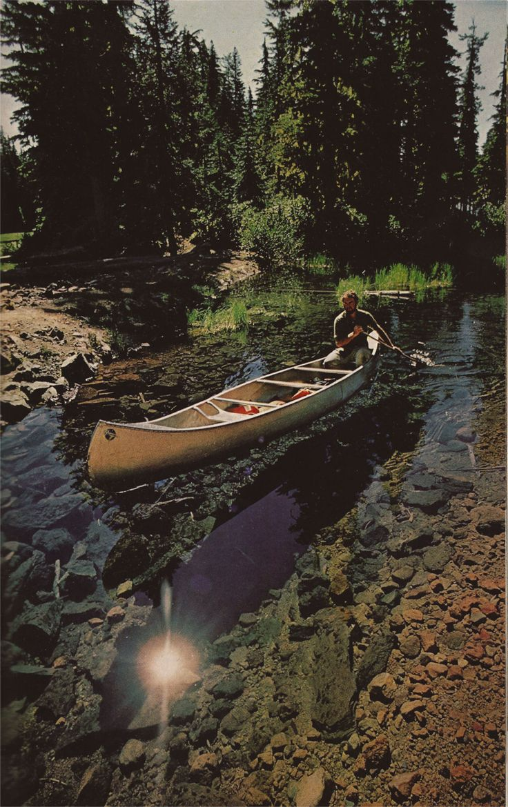 canoeing on a clear river
