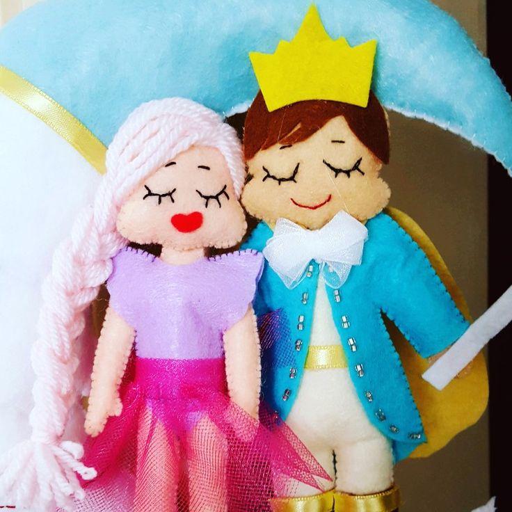 Keçe kapı süsü çalışmam. Prens olur da prenses olmaz mı 😊❤️