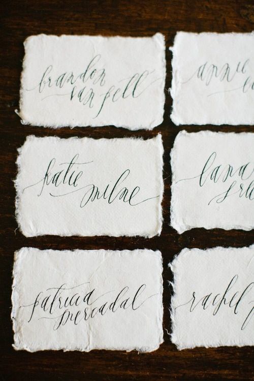 Feast Calligraphy Place Cards Calligraphy And Hand