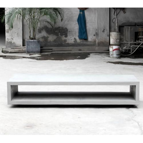 Concrete Monobloc TV Bench With Metal Legs - Lyon Beton - Do Shop