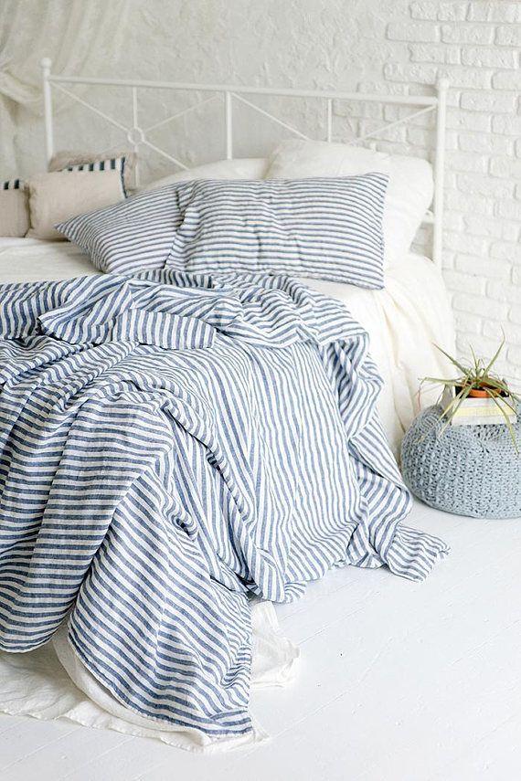Flax Bed Linen Natural Softened Linen Duvet Cover Twin Full Etsy Linen Duvet Cover Twin Bed Linens Luxury Bed Linen Design