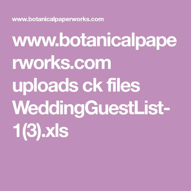 www.botanicalpaperworks.com uploads ck files WeddingGuestList-1(3).xls