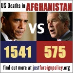 US Deaths in Afghanistan: Obama vs Bush. Click here to learn more.
