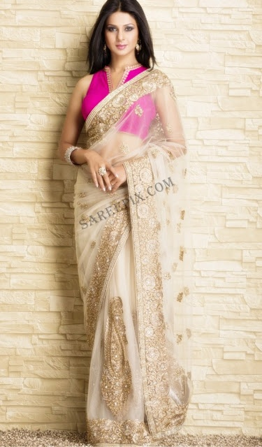 Jennifer Winget in Beautiful #SS13 #Saree by #Meena_Bazaar http://www.meenabazaar.org/