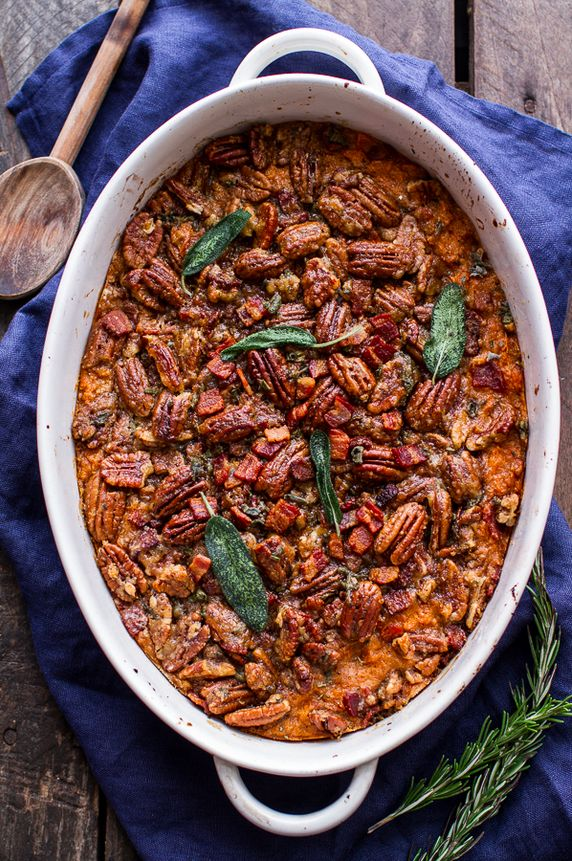 Bourbon & Sweet Potato Casserole | 17 Thanksgiving Dishes You Can Make Ahead Of Time