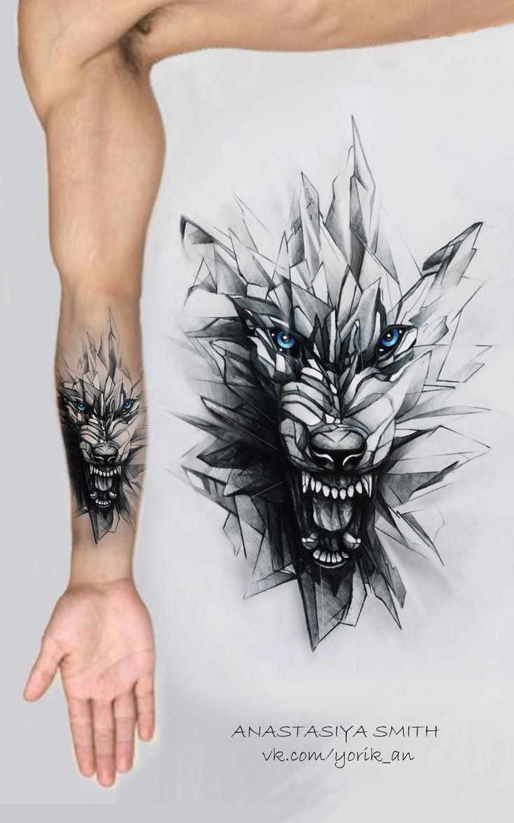 a178efd06 ArtStation - Glass wolf, Anastasiya Smith #tattoo #tattooideen ...