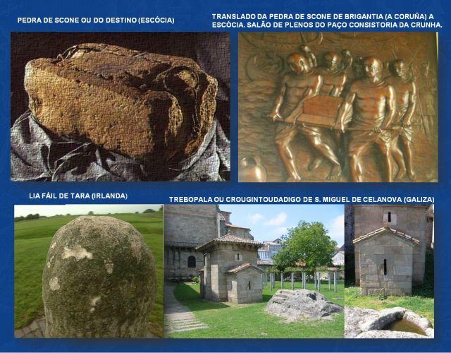 Trebopala, Crougintoudadigo,  Pedra de Scone, Lia Fáil
