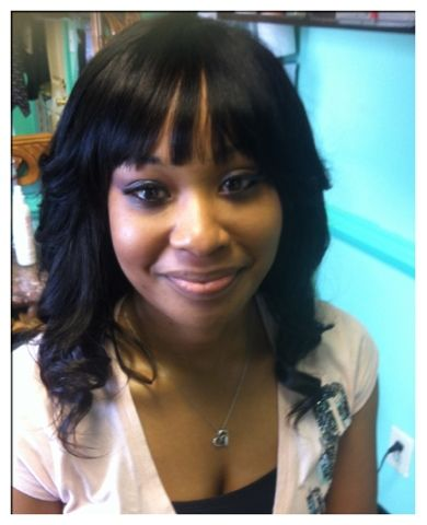 4 Advanced Natural Looking Sew-In Weave Hair Extensions Beauty Salon+ an expert Specialist 2 Help U: Atlanta's Best Sew In Weave 678-663-5298 Ask4 Kia Long black hair extensions with bangs learn more www.allthatandmorehair.com