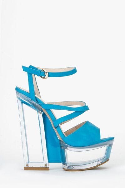 Perspex Sandal Heels