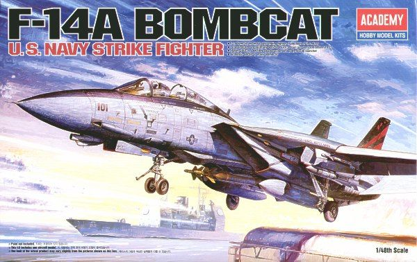 "Grumman F-14A Tomcat ""Bombcat"". Academy, 1/48, injection, No.12206. Price: 26,99 GBP."