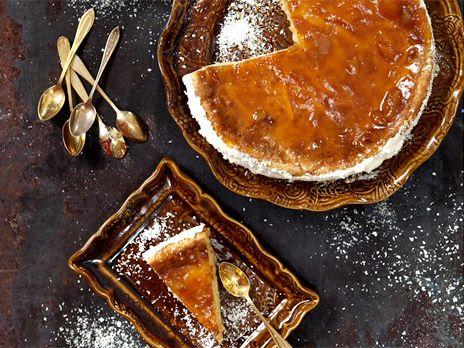 Vit kladdkaka med aprikos   Recept från Köket.se