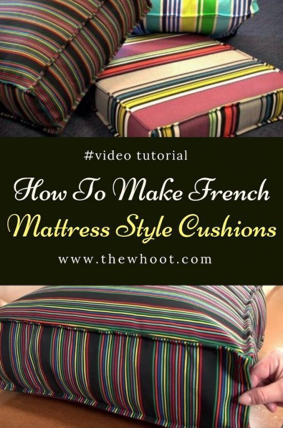 How To Make Fabulous French Mattress Style Cushions