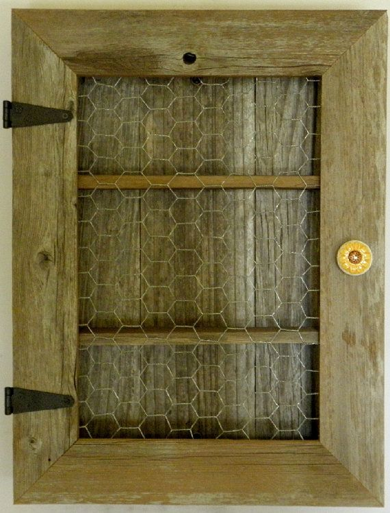 Country Cabinet Rustic Spice Cabinet With Chicken Wire