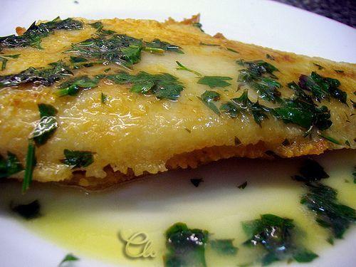 Lenguado merière, con salsa de limón, Receta Petitchef