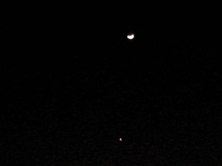 Candra lan kartika, a moon and a star, are the balances of night sky. #Selo #Boyolali