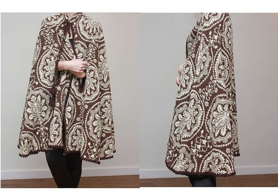 Vintage Amazing Floral Cape Poncho Coat by OutOfAStrobeVintage, £40.00