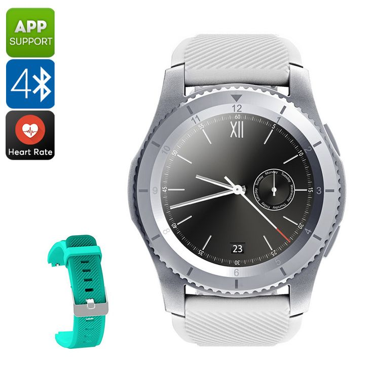 NO.1 G8 Phone Watch - Bluetooth 4.0, App Support, 1 IMEI, Pedometer, Sleep Monitor, Sedentary Reminder, Heart Rate (White) - The NO.1 G8 Phone Watch lets you make calls and send messages from your wrist. This Bluetooth watch comes with a pedometer and heart rate monitor.