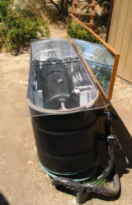 Homemade Solar Water Heater, for what, I do not know.