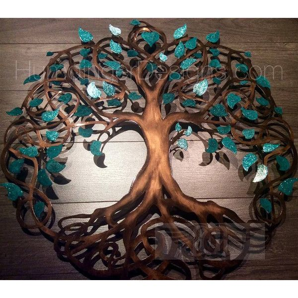 Tree branch wall decor metal dark