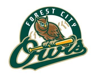 Forest City Owls...Forest City, NC.  Coastal Plain League, collegiate summer baseball