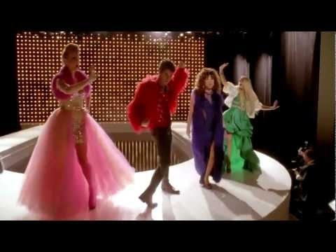 """""""Diva"""", performed by Unique Adams, Tina Cohen-Chang, Blaine Anderson, Kitty Wilde, Brittany S. Pierce, and Marley Rose in the thirteenth episode of season 4."""