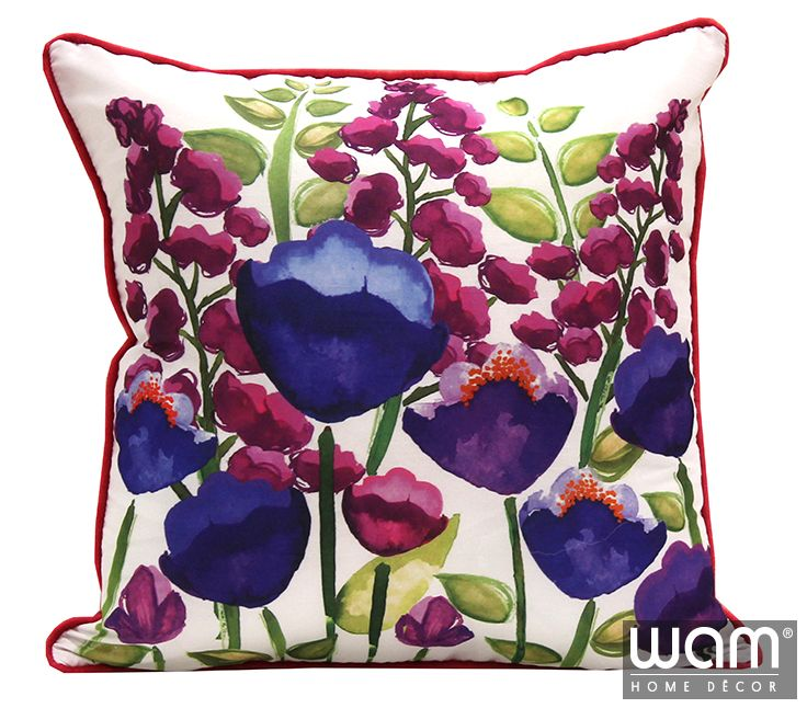Hudson Floral Cushion available now to suit your summer style home decor. http://wamhomedecor.com.au/index.php/hudson-floral-cushion-45x45cm.html