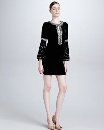 Moroccan-Inspired Velvet Dress, Black by Emilio Pucci at Bergdorf Goodman.