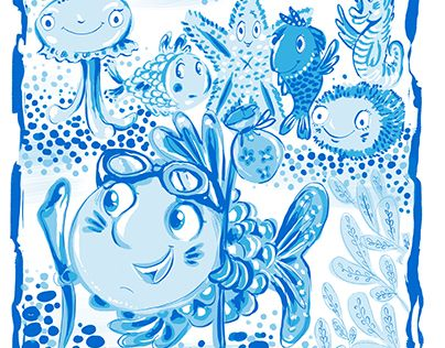 """Check out new work on my @Behance portfolio: """"illustration fish"""" http://be.net/gallery/53185617/illustration-fish"""