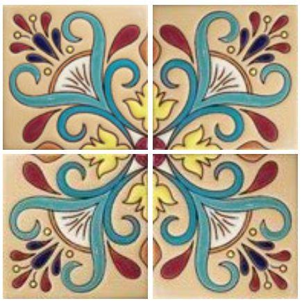 Cuerda Seca Tile http://www.tilesandtiles.com/highrelieftiles/rdc53.html#top