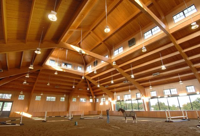 Unalam   PROJECT GALLERY   Glulam Horse Riding Arena - Brewster, NY