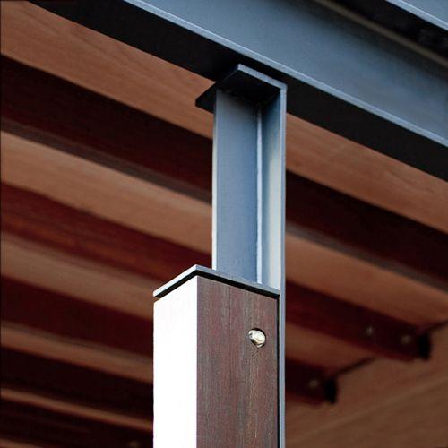 Timber to Steel column detailing