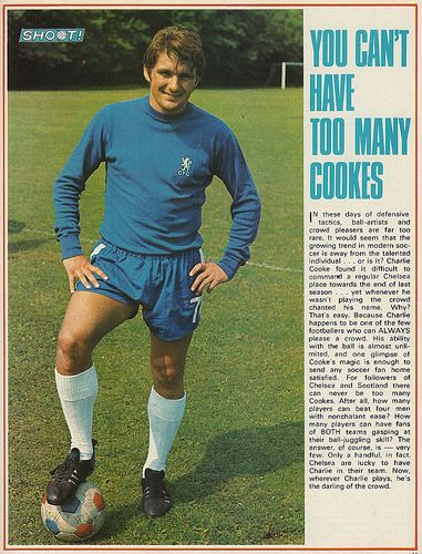 You can't have too many Cookes #CharlieCooke #Chelsea #Shoot! 1969-11-15
