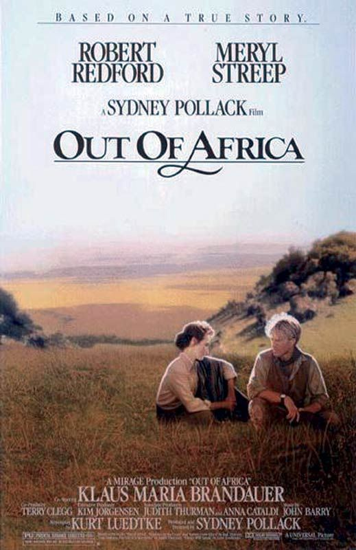 Out of Africa starring Meryl Streep, Robert Redford 	 26 mars 1986 (2h41min)