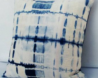 Abstract Decorative Pillow Cases Indian Tie Dyed Indigo Blue Cushion Covers Interior Home Sofa Cushion Christmas Gifts Shibori Gypsy Pillows