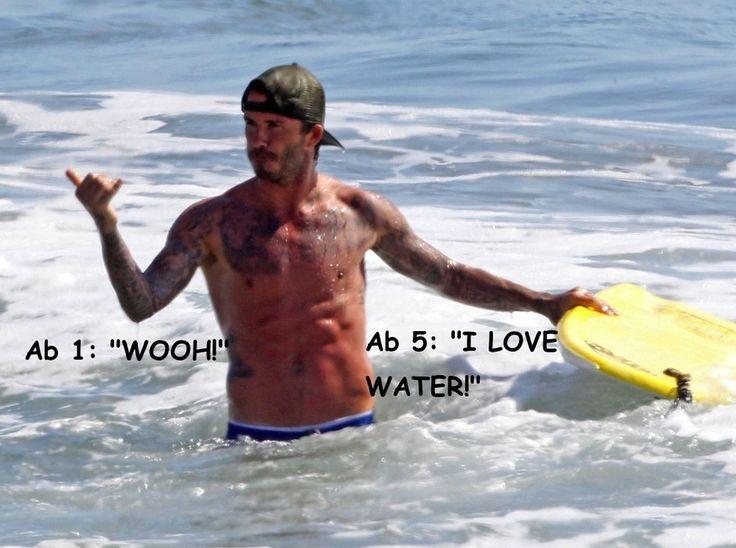 David Beckhams Perfect Abs Went Boogie Boarding