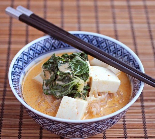 Red Curry Coconut Noodle Soup: 1 tsp flavorless oil; 1 T plus 1 tsp ...