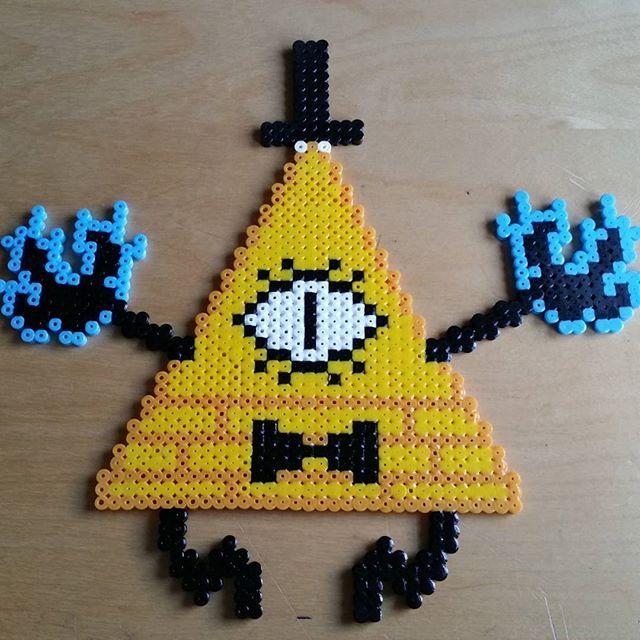 Bill Cipher - Gravity Falls perler beads by levi.cyanide