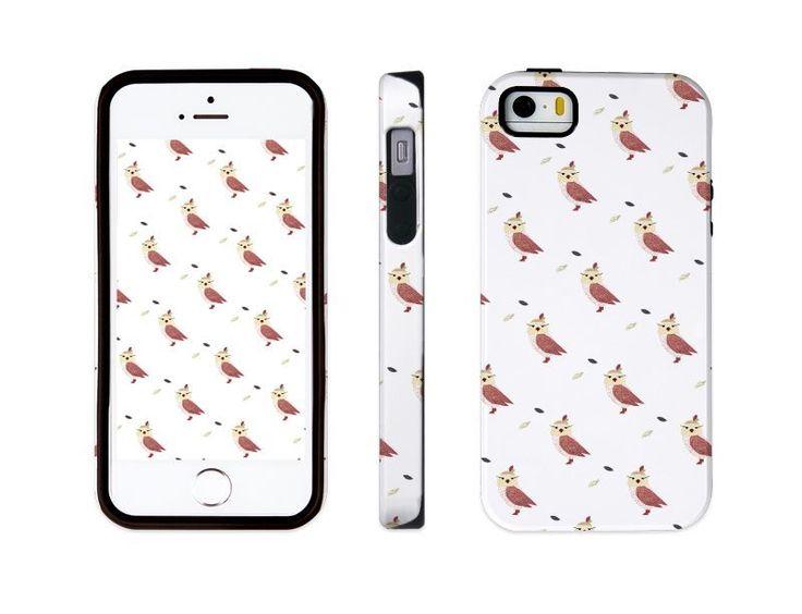 "iphone 5 5s illust designed case, ""owl patterned"" made in korea, hardcase #astep"
