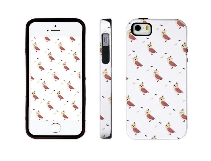 "iphone 5 5s illust designed case, ""owl patterned"" made in korea, hardcase #astep"