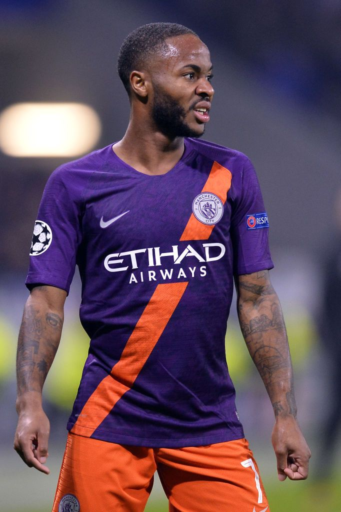Raheem Sterling Of Manchester City Reacts During The Group F Match Of Sterling Manchester City Manchester City Football Club Manchester City