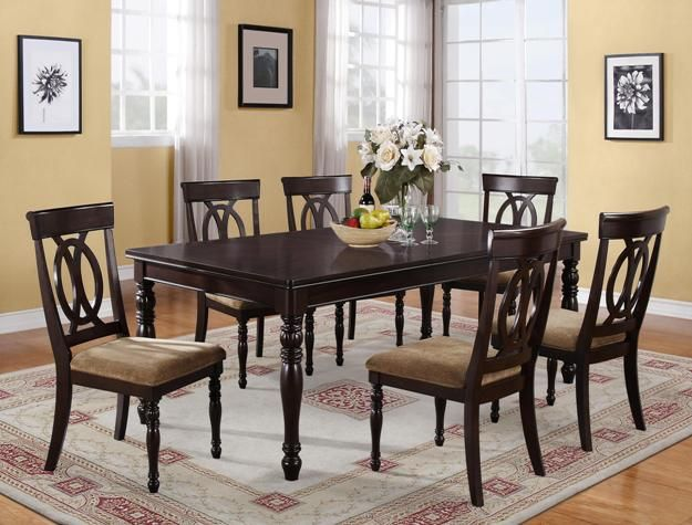 Table With Six Chairs 7 Piece Dining SetDining
