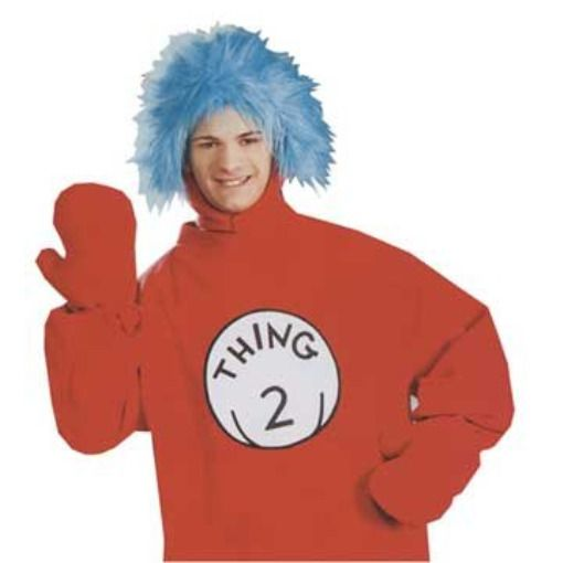 Dr Seuss Thing 1 or Thing 2 Wig blue Adult Halloween Costume Accessory   fashion  clothing  shoes  accessories  costumesreenactmenttheater   accessories  ad ... 2f18b75257
