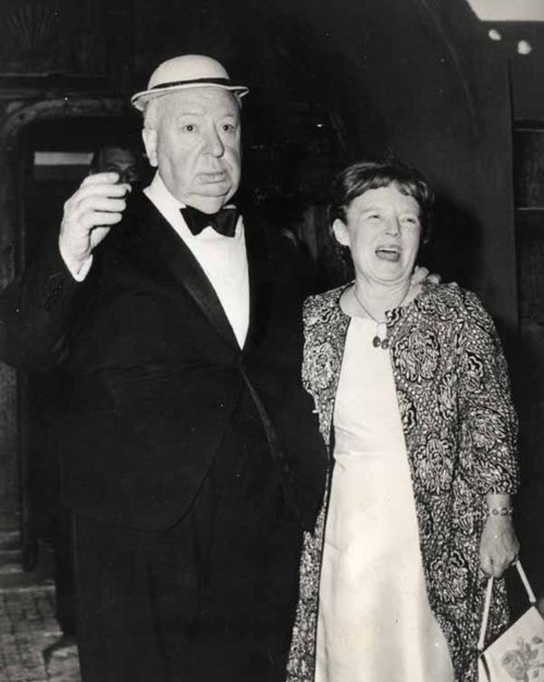 Alfred Hitchcock & the woman behind him, his wife, and great talent Ilma Reville