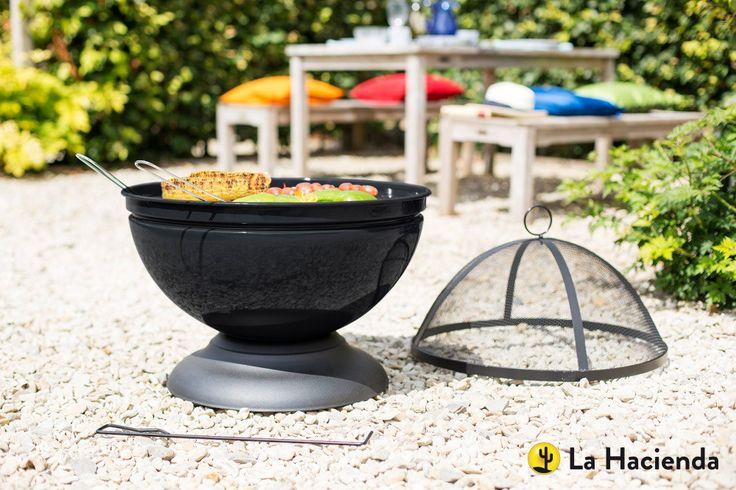 BLACK FRIDAY DEAL - La Hacienda Globe Black Firepit