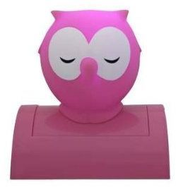 Pink Night Owl Night Light Your kids will love this cutebattery operated night light  Energy saving bulb Uses 3 x AA batteries