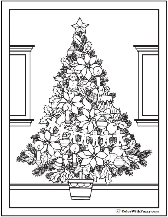 42 Adult Coloring Pages Customize Printable PDFs Christmas Tree