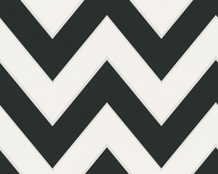 Tapete / Vliestapete Black & White 2. Rolle: 0,53x10,05 m, gerader Ansatz. Dekor: Grafik, Modern, Streifen. Raum: Büro, Flur, Schlafzimmer, Wohnzimmer. Farbe: Schwarz, Weiß. Qualität: gut lichtbeständig, hoch waschbeständig, restlos abziehbar.